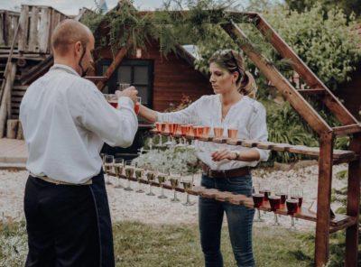 Nyolcszög pezsgőállvány
